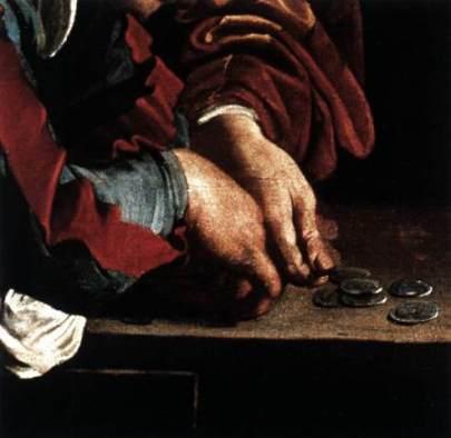 Caravaggio_Vocazione di San Matteo_Roma_San Luigi dei Francesi_Cappella Contarelli_1599-1600(part_4)